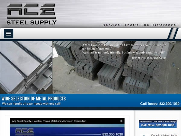 ace 600x450 - 7 Page Full Website