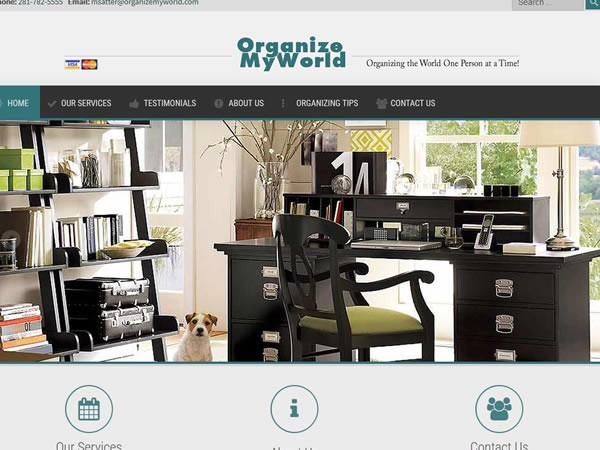 organize 600x450 - 7 Page Full Website